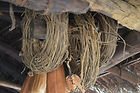 malawi architecture, These vines are collected and used to tie together the roof poles. Maganga village Malawi