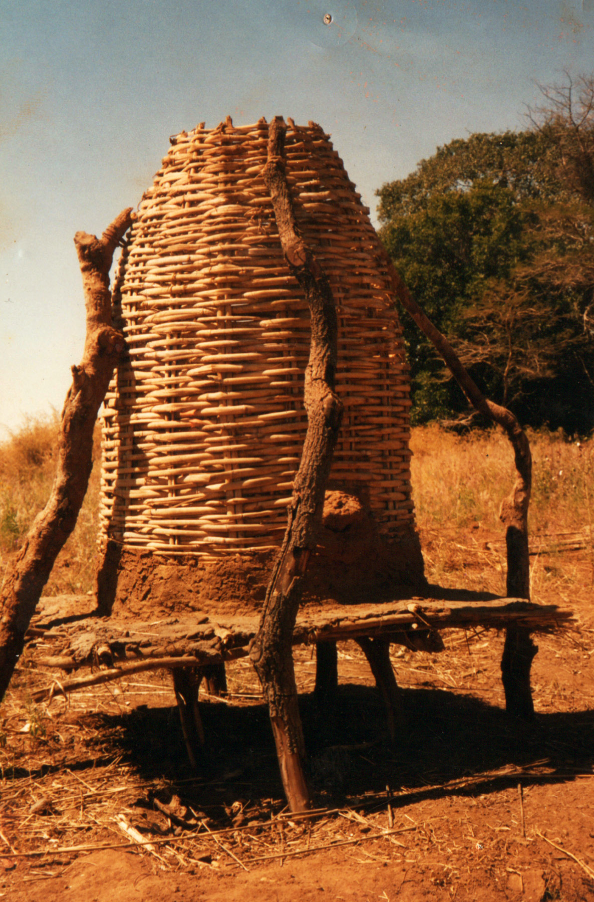 Zambia container constructed of weaved reeds to hold groundnuts.jpg