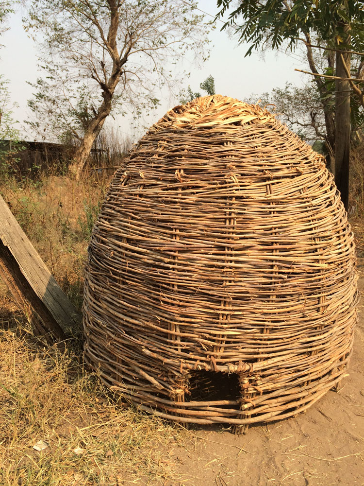 Ethiopia chicken coop constructed with woven reeds (submitted by Abby Morris).jp
