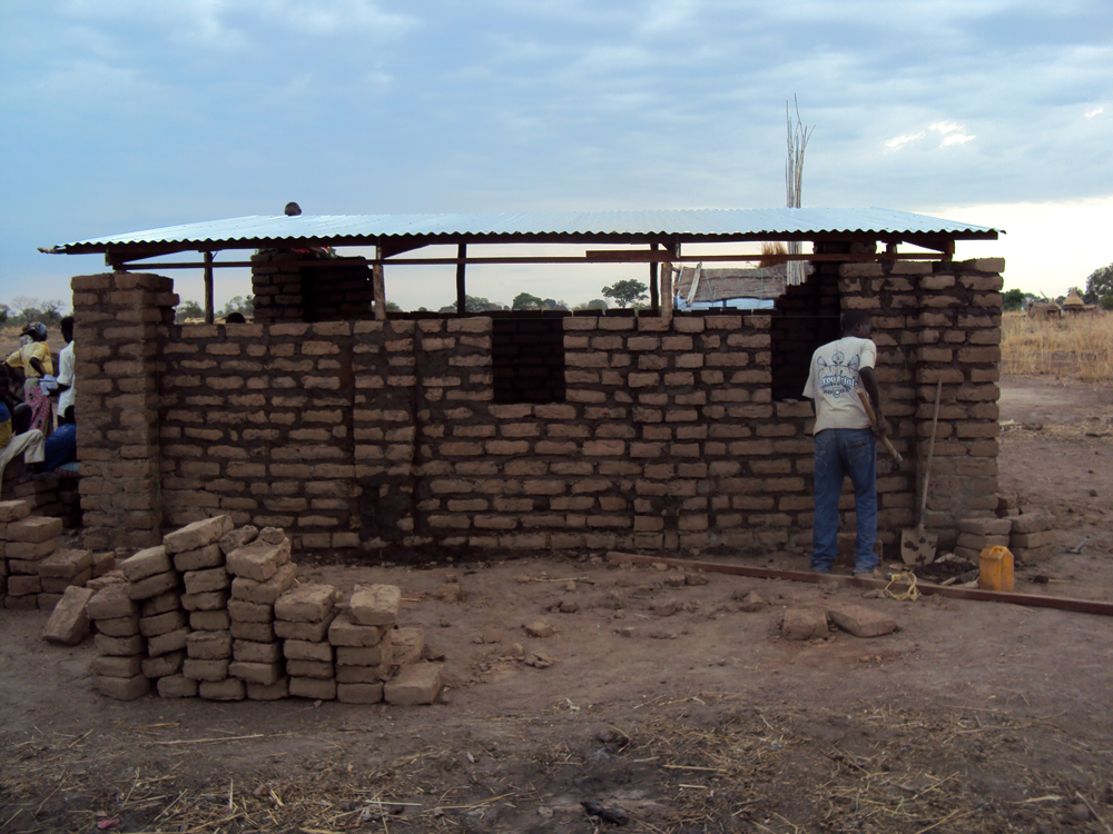 South Sudan home construction with mud bricks (submitted by Fernando Nestor Muri