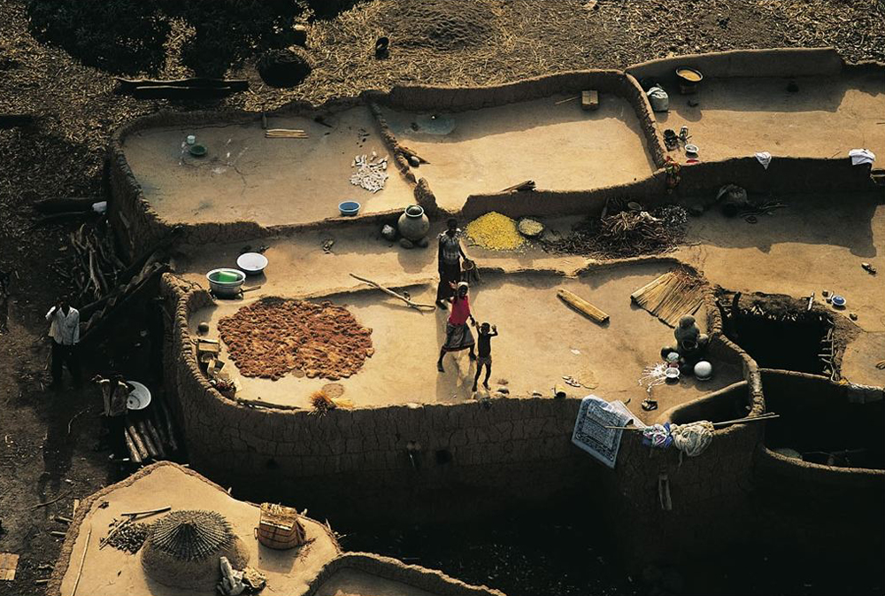 Ivory Coast looking down on roofs in a village (submitted by Konan Florent Koffi