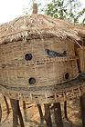 A two story pigeon coop weaved from reeds in Khisha village Malawi, malawi architecture