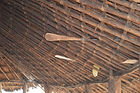 The underside the roof of the verandah in Nzimba village Malawi. The roof structure is reeds and bamboo tied together with sisal (a plant), malawi architecture