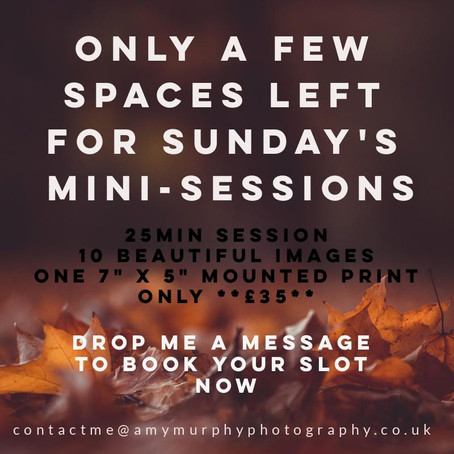 Don't miss out on the AMP Autum Mini-Sessions this Sunday! ...