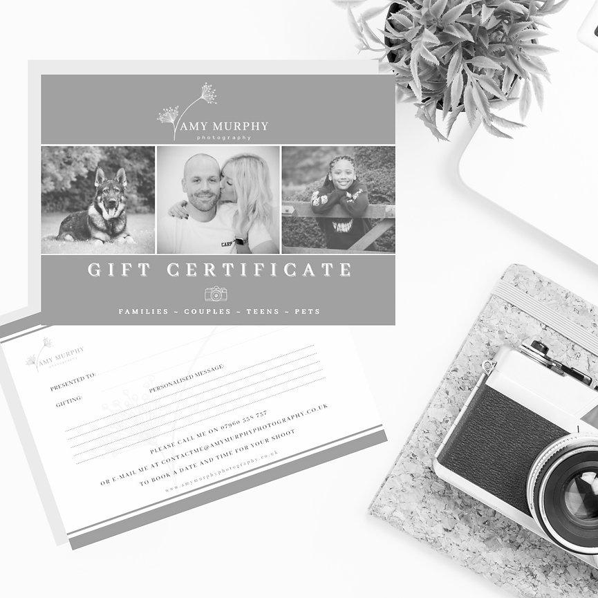 Amy Murphy Photography Gift Certificates -  - Royston, Hertfordshire & Cambridgeshire wedding & family photography