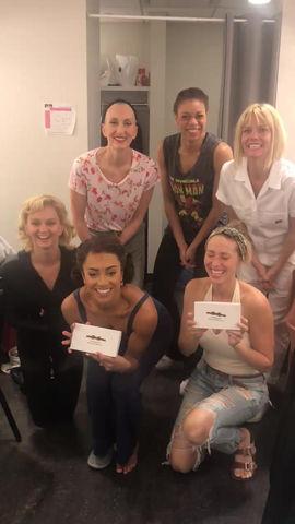 We're backstage on Broadway!