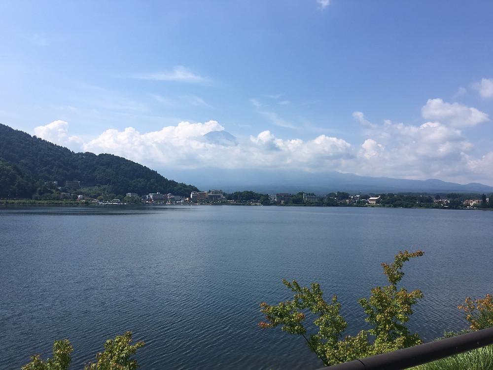 河口湖 富士山