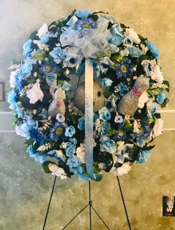 Custom Bowling Wreath S06