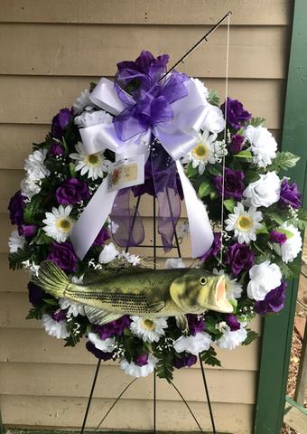 Custom Fishing Wreath 04