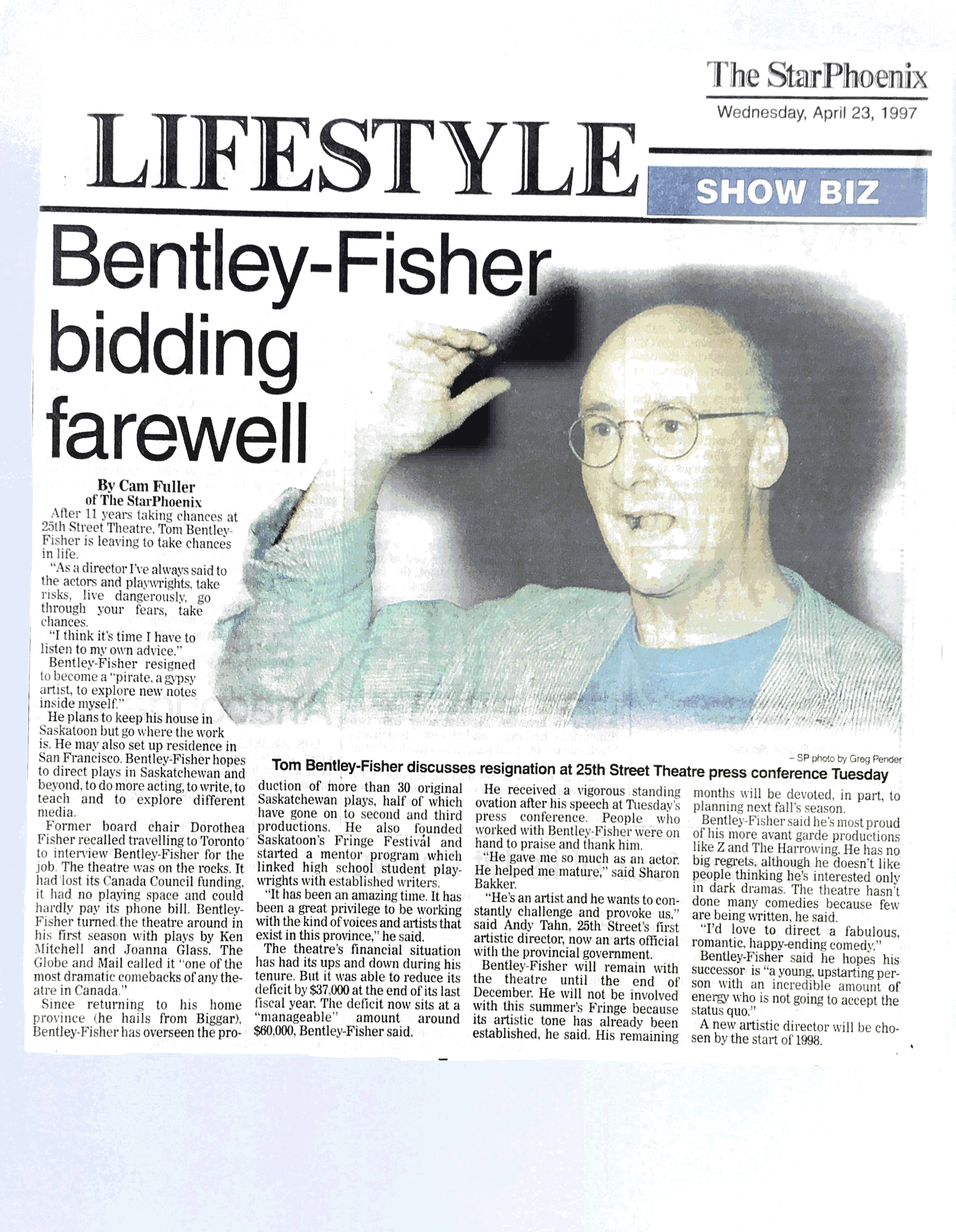 'Bentley-Fisher bidding farewell'
