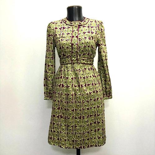 Vestido Estampado Vintage - Brechó