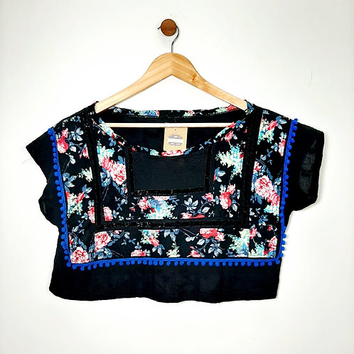 Cropped Floral - Brechó
