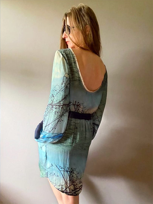 Vestido Paisagem - Brechó