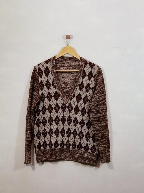 Suéter Escocês - Brechó
