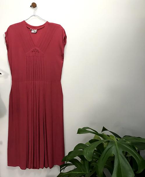 Vestido Crepe Italiano - Brechó