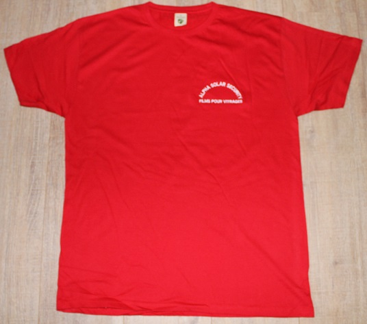 ALPHA SOLAR TSHIRT RED