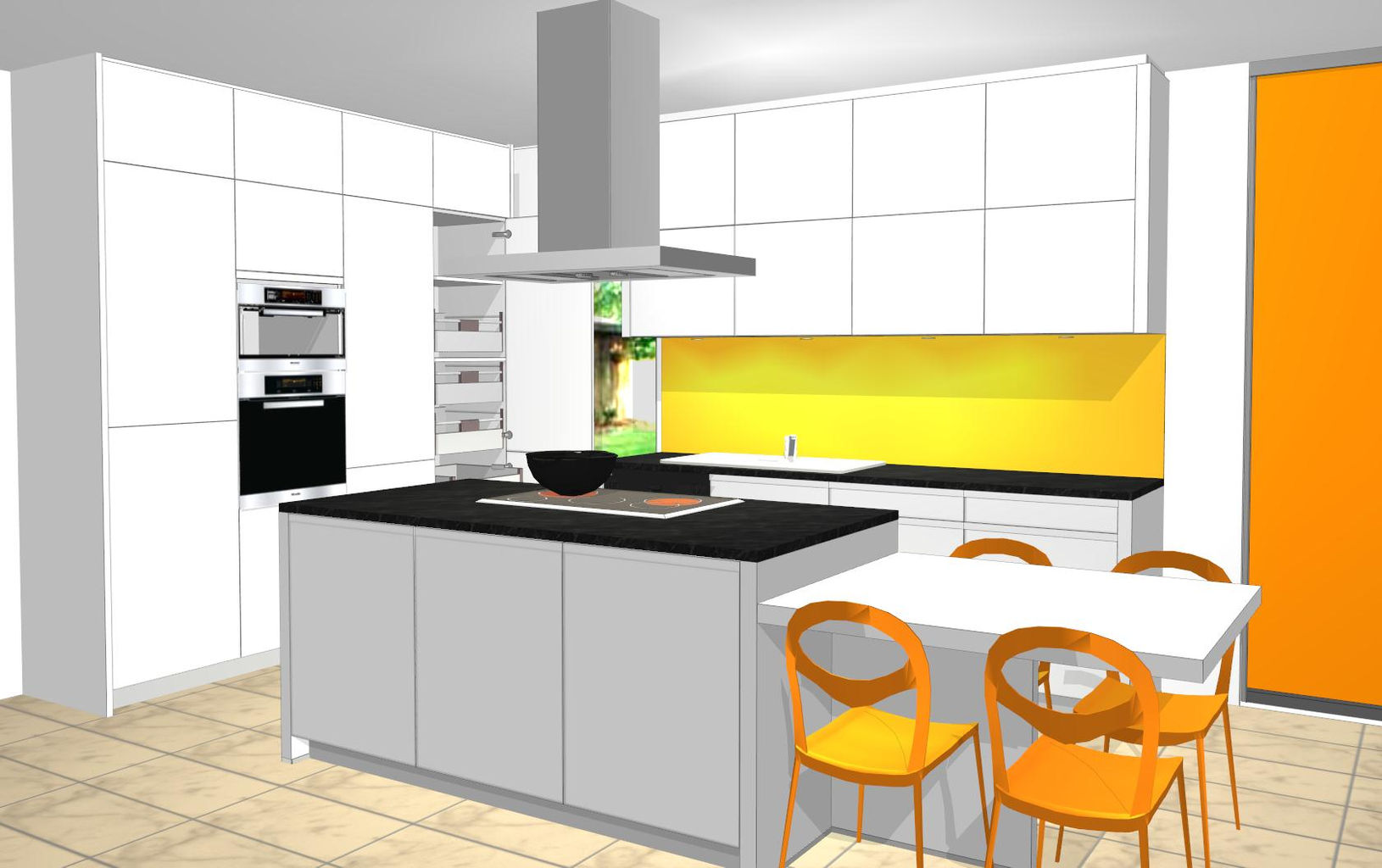Progetto cucina moderna kw55 regardsdefemmes for Disegnare cucina 3d
