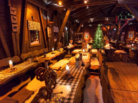 Hütte Innenansicht Nürnberger Winterhütte