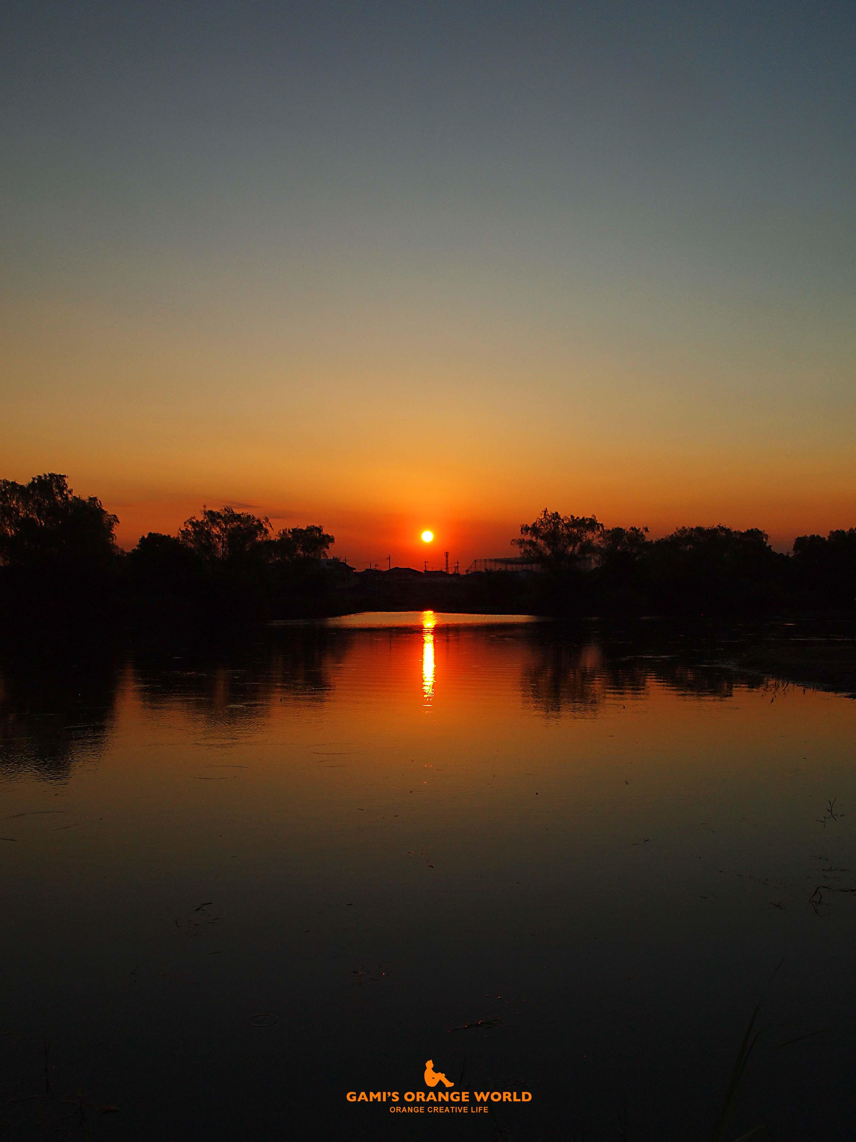 0347大吉親水公園の夕日3 のコピー
