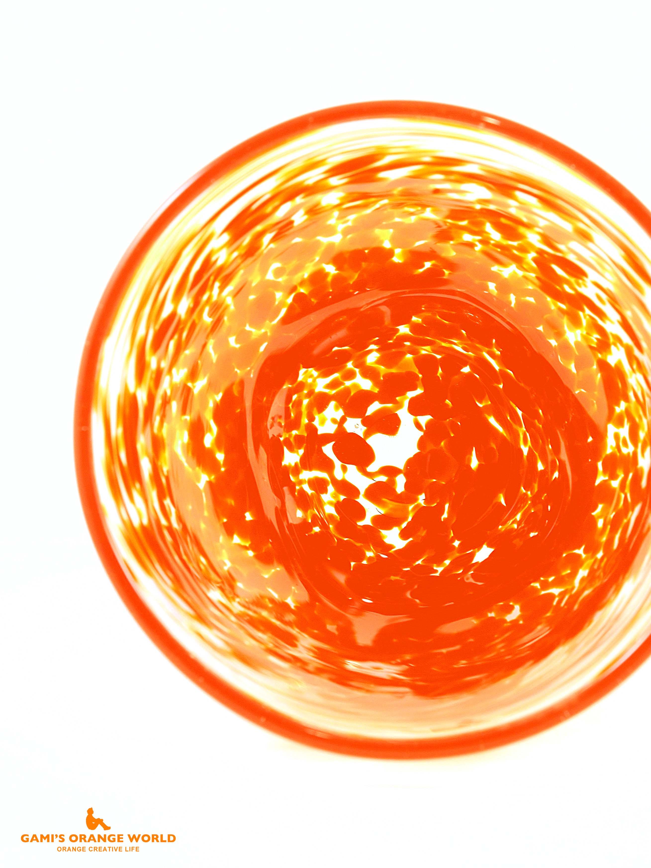 摩耶ちゃんに創ってもらったオレンジグラス3 のコピー