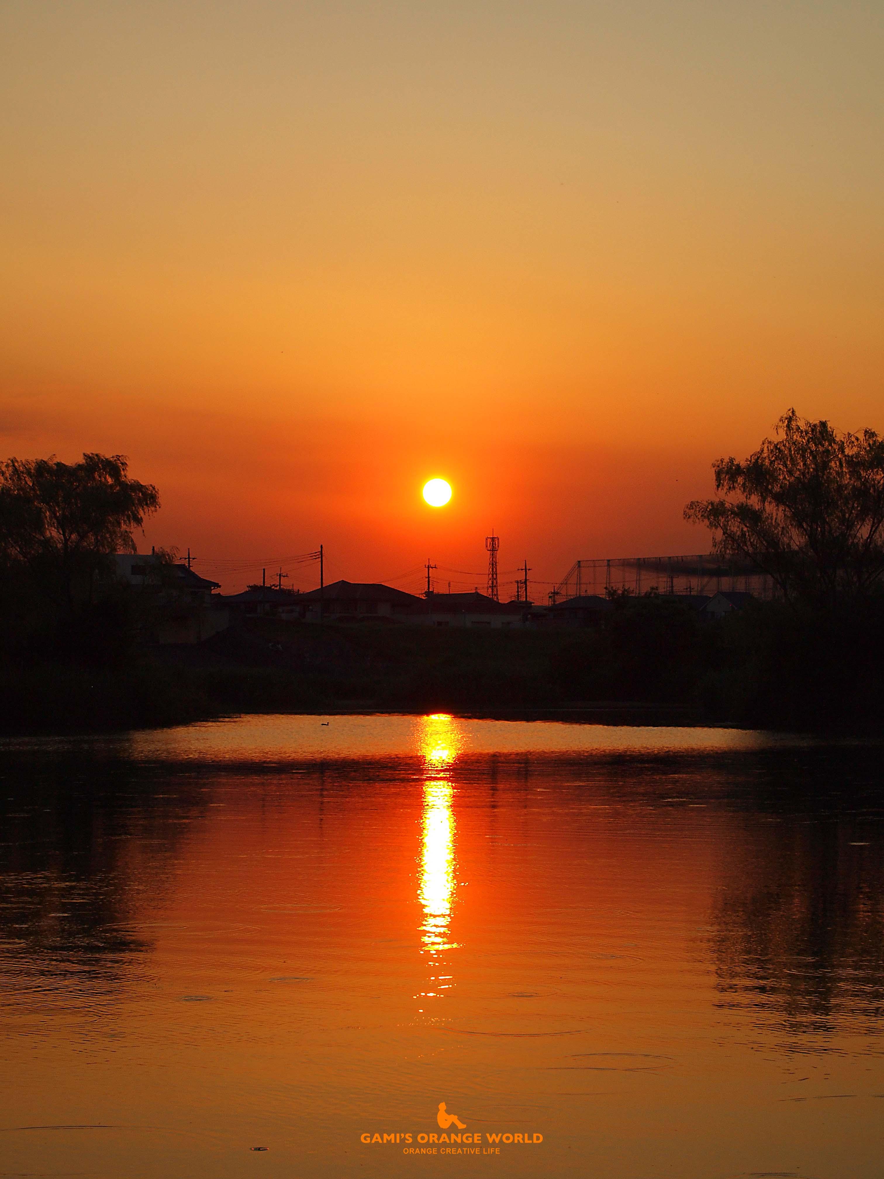 0347大吉親水公園の夕日1 のコピー