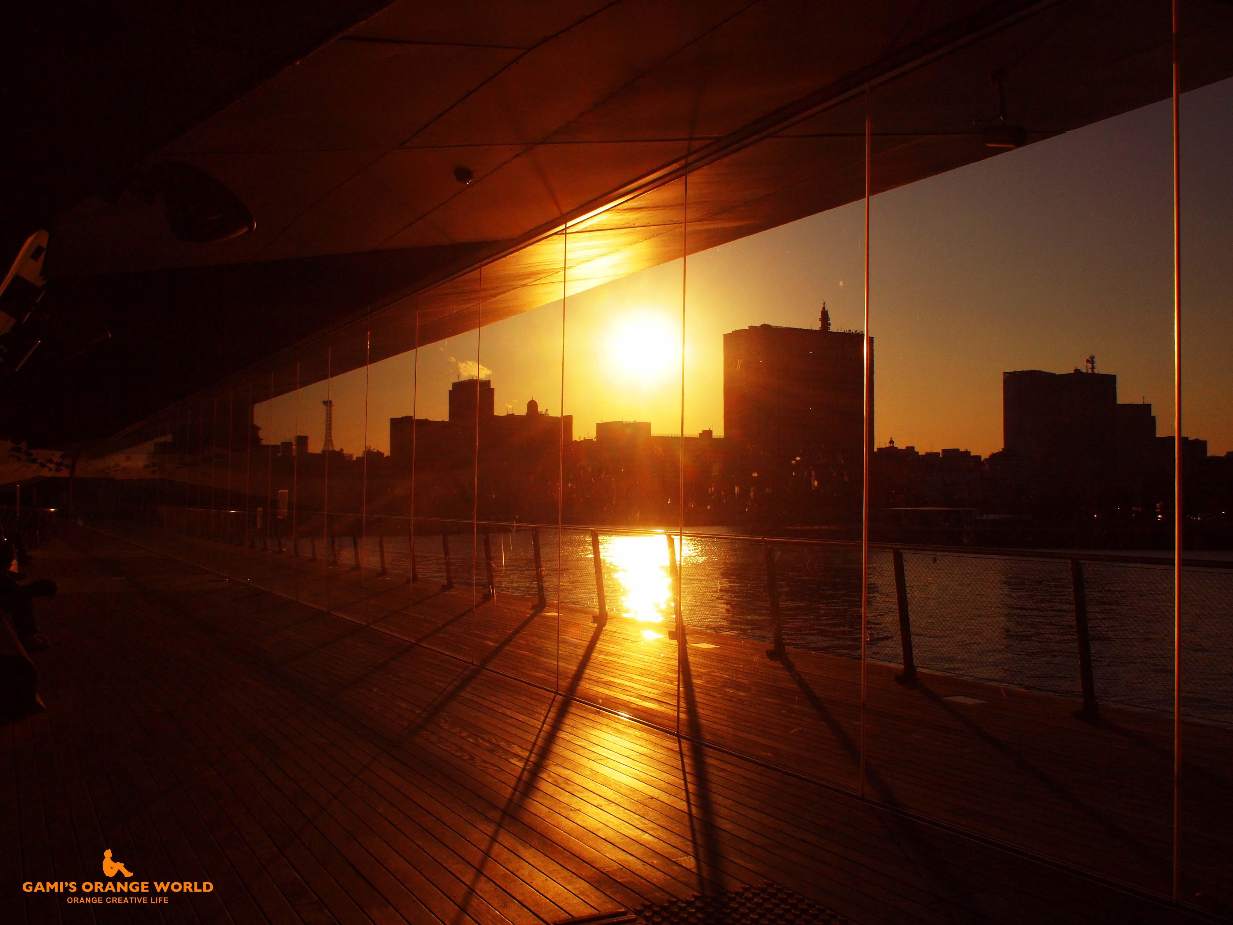 0514横浜の夕日2 のコピー