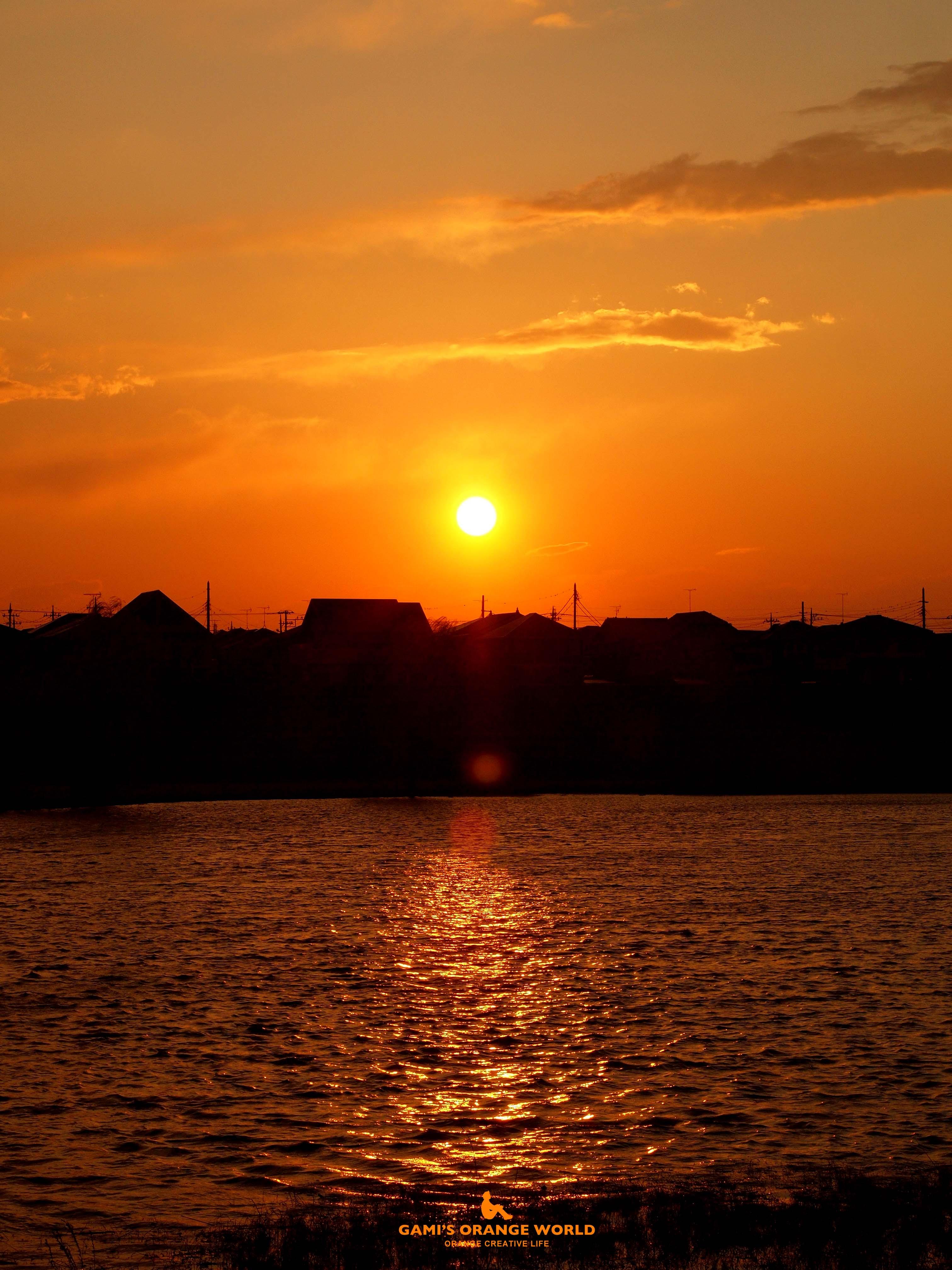 0562大吉親水公園の夕日 のコピー