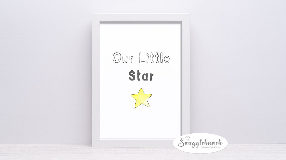 Our Little Star Print