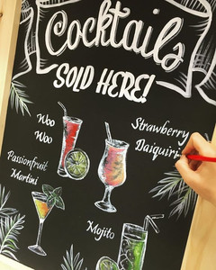 Hand Painted Bar Signage