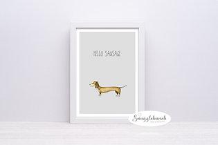 'Hello Sausage' Print