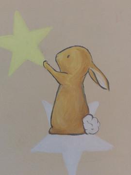 Bunny and Star Wall Art