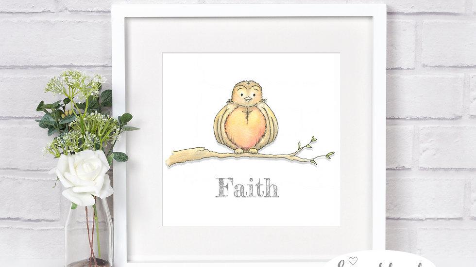 Faith Robin Print