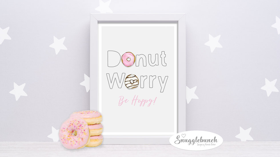 Donut Worry Print
