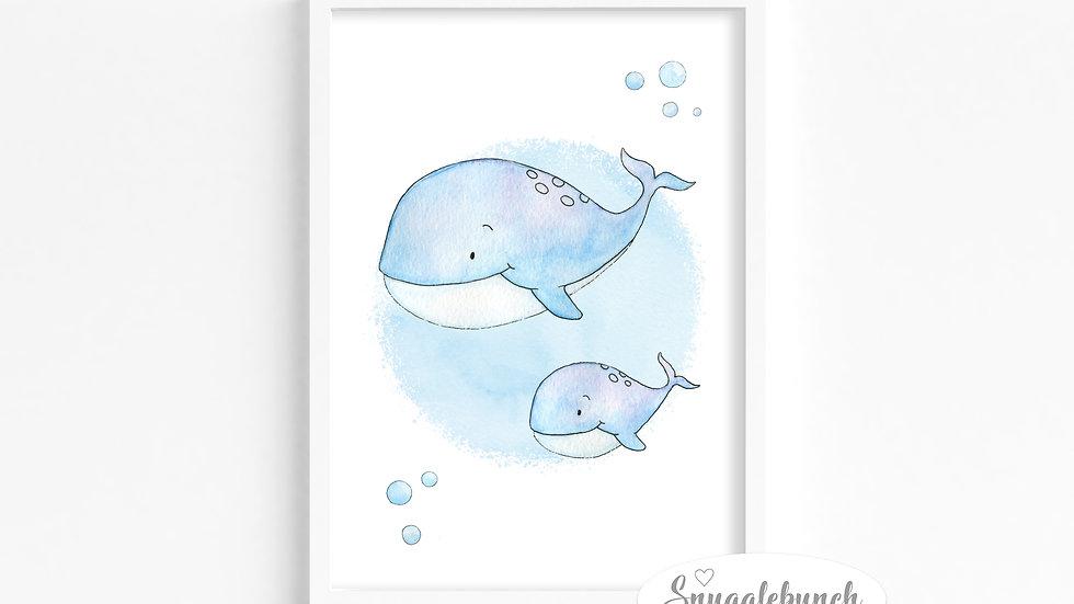 Whale 'Ocean Friends' Print