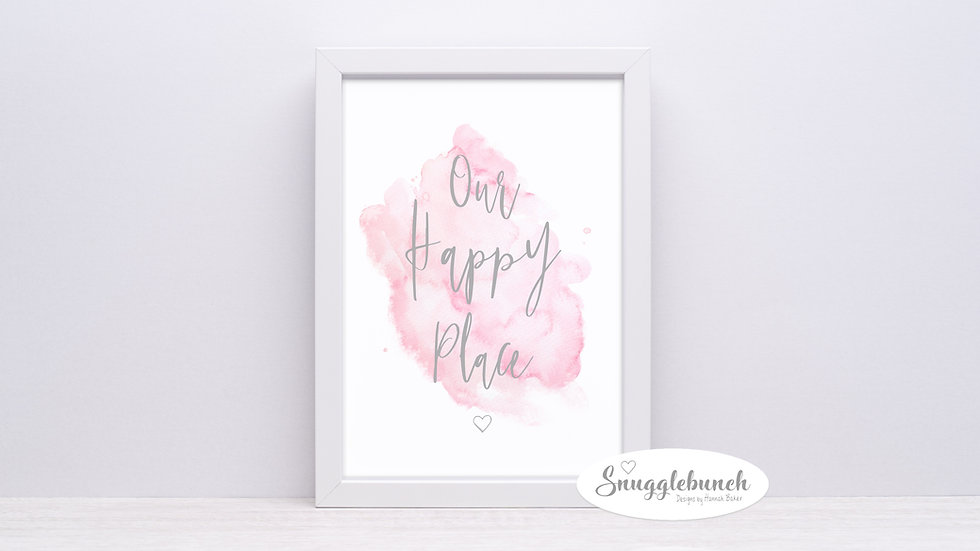 'Our Happy Place' Watercolour Print
