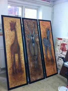 African Animal Panels