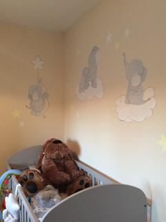 Elephant Nursery Mural
