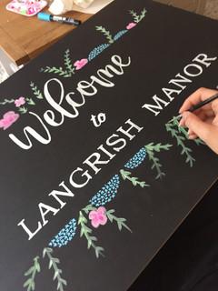 Personalised Wedding Chalkboard Signage