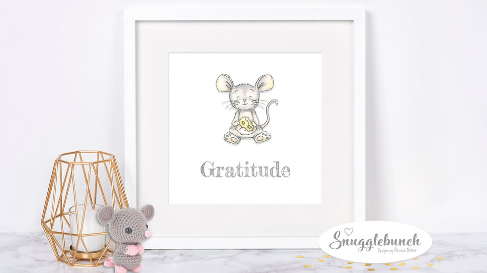 Gratitude Mouse Print