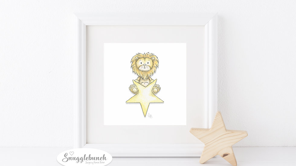 Lion Star Print