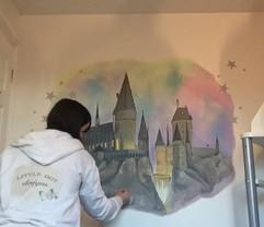 Harry Potter Hogwarts Mural