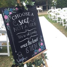 Hand Painted Wedding Chalkboard Signage