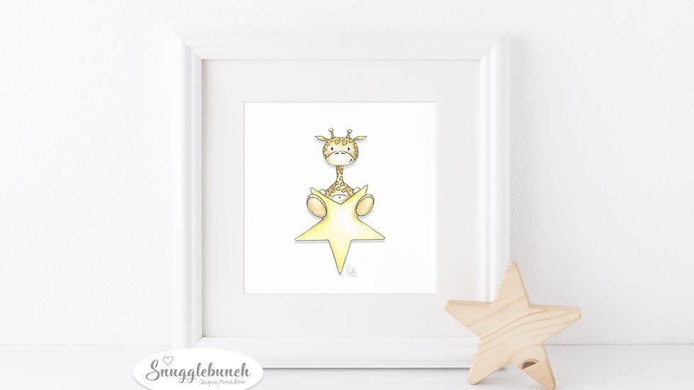 Giraffe Star Print