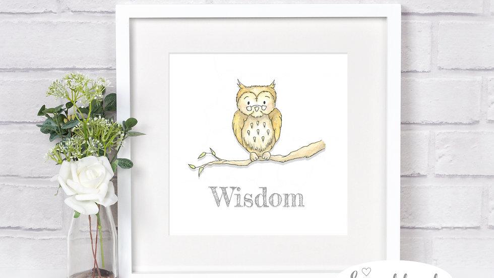 Wisdom Owl Print