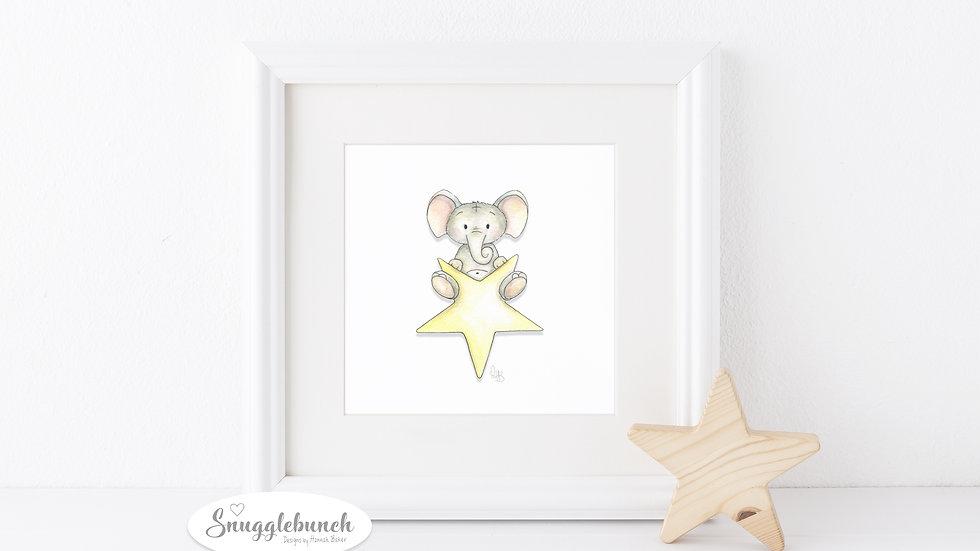 Elephant Star Print