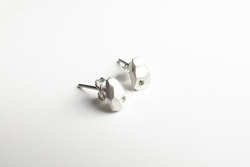 Mini Silver and Topaz Iceberg Earrings