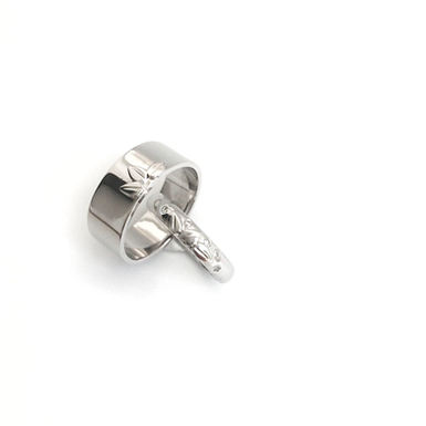 """Diamonds in Nature"" Wedding Rings"