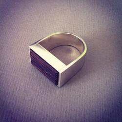 Wood Signet Ring
