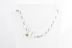 Green & Golden Orchid Necklace