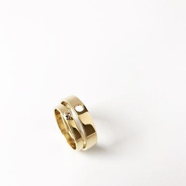"""Missing Piece"" Wedding Rings"